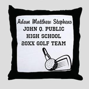 Custom Golf Player Name | School | Ye Throw Pillow