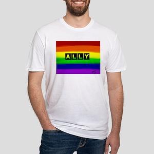 ALLY gay rainbow art T-Shirt