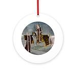Mr 'N Mrs Claus Ornament (Round)