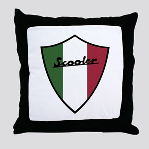 Scooter Shield Throw Pillow