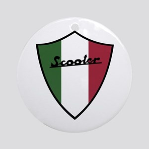 Scooter Shield Ornament (Round)
