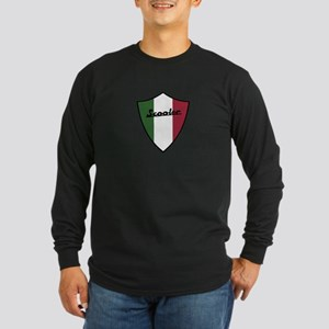Scooter Shield Long Sleeve Dark T-Shirt