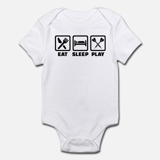Eat Sleep Play Darts Infant Bodysuit