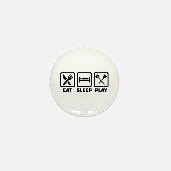 Eat Sleep Play Darts Mini Button