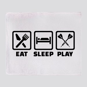 Eat Sleep Play Darts Throw Blanket