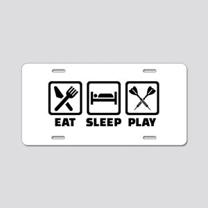 Eat Sleep Play Darts Aluminum License Plate