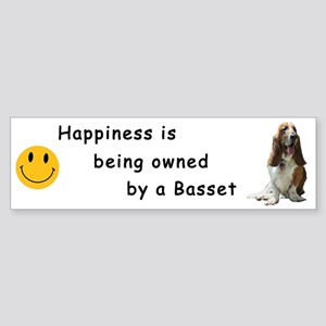 Happiness is.. Bumper Sticker - Tri-color on white