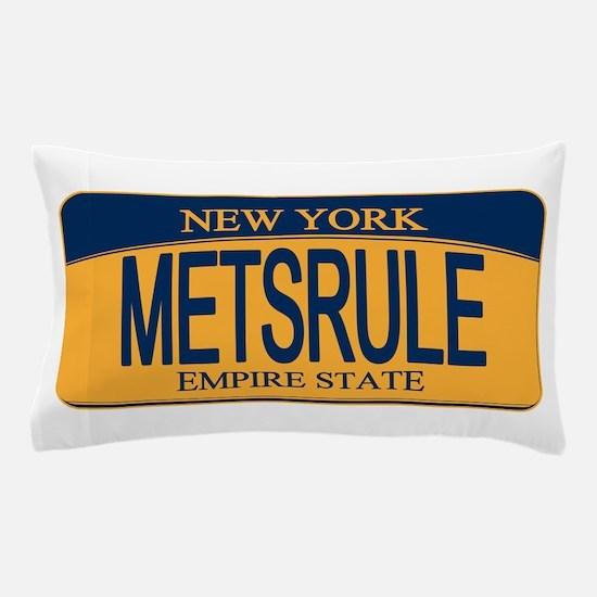MetsRule Ny License Plate Pillow Case