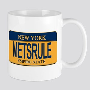 MetsRule Ny License Plate Mugs