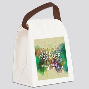 Conquer the World Canvas Lunch Bag