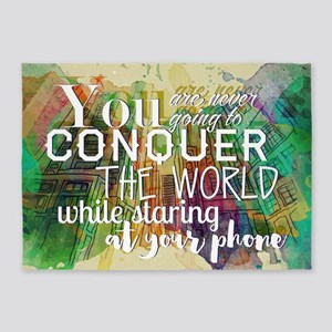 Conquer the World 5'x7'Area Rug