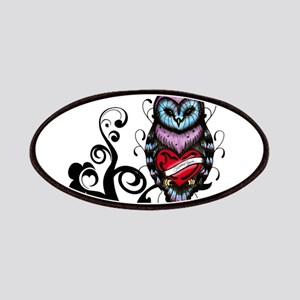 Whimsical Owl with Heart Patch
