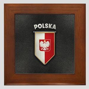 Poland Pennant with high quality leath Framed Tile