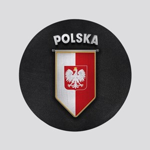 Poland Pennant with high quality leather lo Button