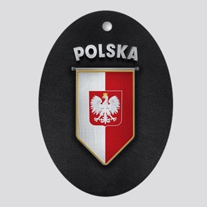 Poland Pennant with high quality lea Oval Ornament
