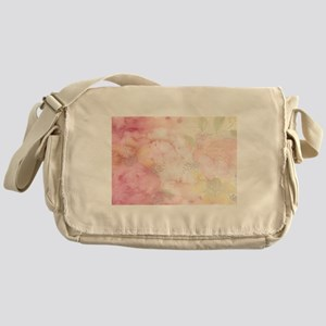 Watercolor Pink Floral Background Messenger Bag