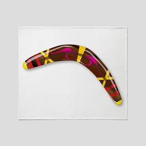 Decorated Boomerang Throw Blanket