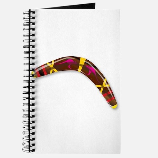 Decorated Boomerang Journal