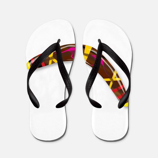 Decorated Boomerang Flip Flops
