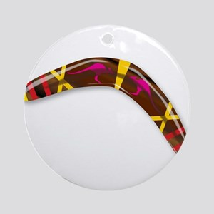 Decorated Boomerang Round Ornament