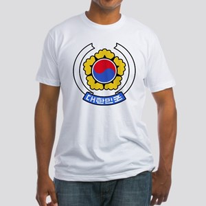 South Korea Coat of Arms Fitted T-Shirt