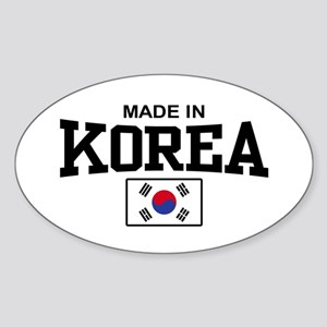 Made In Korea Oval Sticker