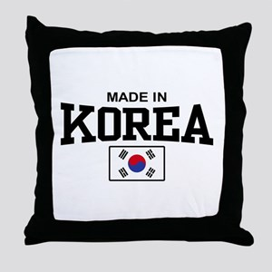 Made In Korea Throw Pillow