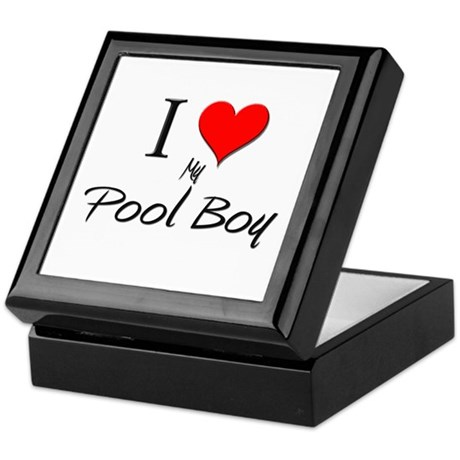 I Love My Pool Boy Keepsake Box