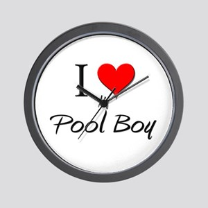 I Love My Pool Boy Wall Clock