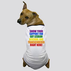 Personalized Rainbow GLBT Gay Flag Dog T-Shirt