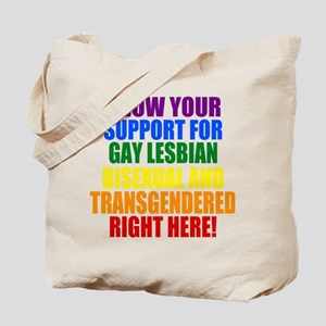 Personalized Rainbow GLBT Gay Flag Tote Bag