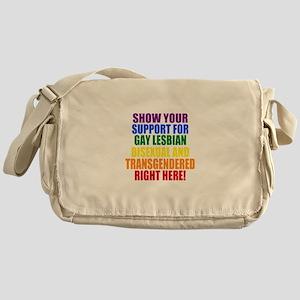 Personalized Rainbow GLBT Gay Flag Messenger Bag
