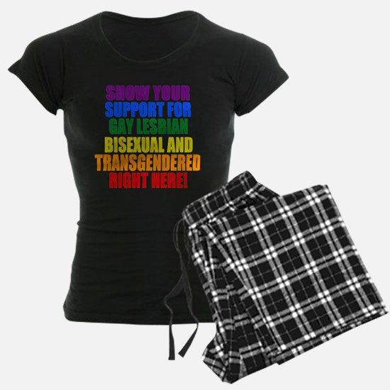 Personalized Rainbow GLBT Gay Flag Pajamas