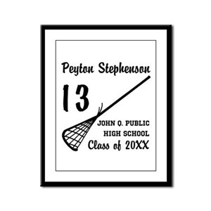 Custom Lacrosse Player Name | S Framed Panel Print