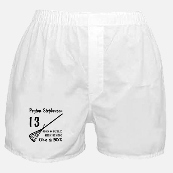 Custom Lacrosse Player Name | School Boxer Shorts