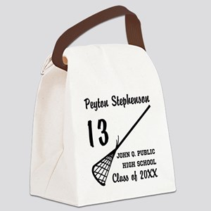 Custom Lacrosse Player Name | Sch Canvas Lunch Bag