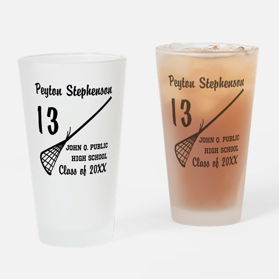 Custom Lacrosse Player Name | Schoo Drinking Glass