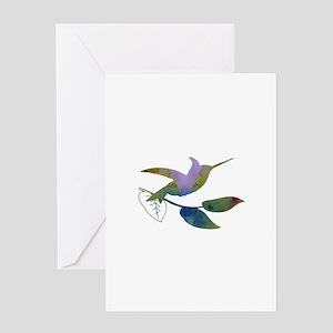 Humming bird Greeting Cards