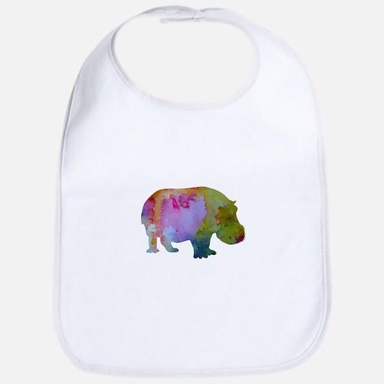 Hippopotamus Baby Bib
