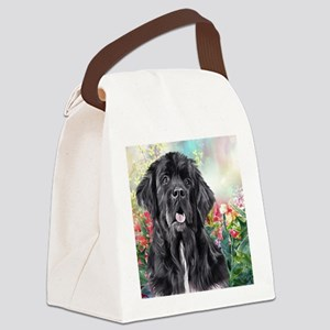 Newfoundland Painting Canvas Lunch Bag