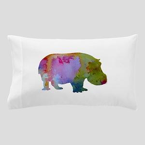 Hippopotamus Pillow Case
