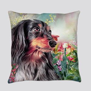 Dachshund Painting Everyday Pillow