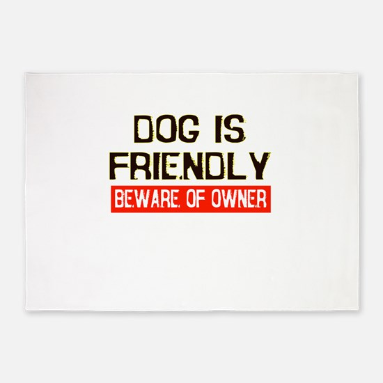 dog.png 5'x7'Area Rug