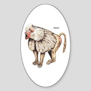 Baboon Monkey Ape Oval Sticker