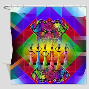 South African Art Shower Curtain