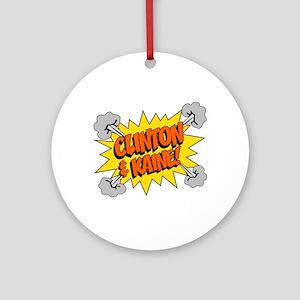 Clinton Kaine 2016 Round Ornament