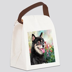 Shiba Inu Painting Canvas Lunch Bag