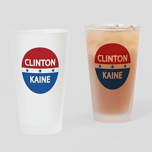 Clinton Kaine 2016 Drinking Glass