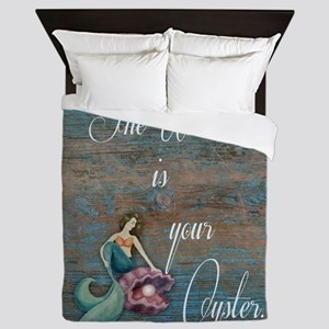 Mermaid World Queen Duvet