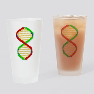 Twin DNA Strands Drinking Glass